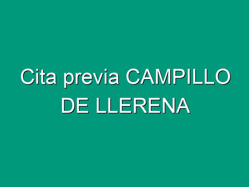 Cita previa CAMPILLO DE LLERENA