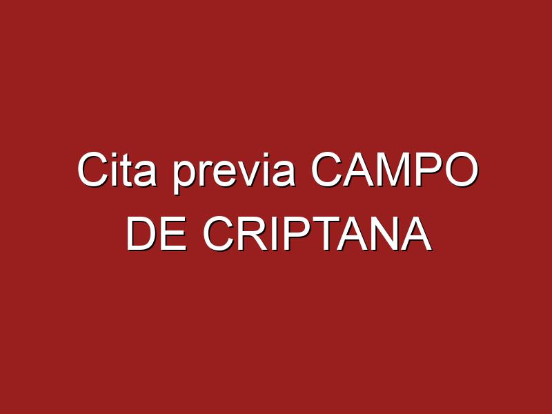 Cita previa CAMPO DE CRIPTANA