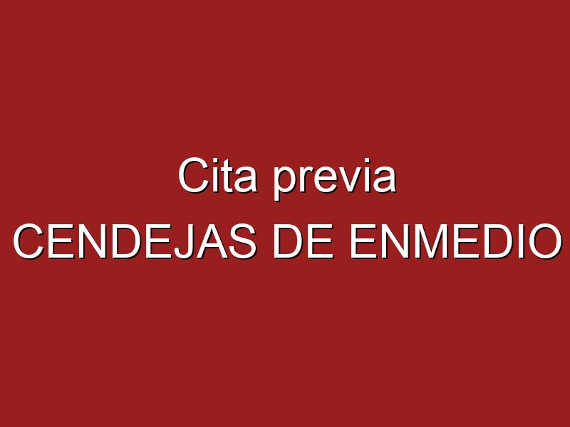 Cita previa CENDEJAS DE ENMEDIO