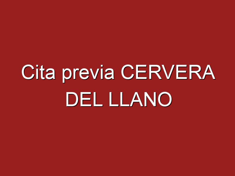 Cita previa CERVERA DEL LLANO