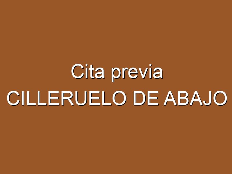 Cita previa CILLERUELO DE ABAJO