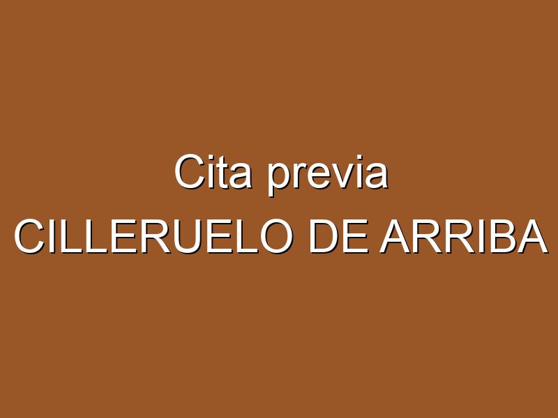 Cita previa CILLERUELO DE ARRIBA