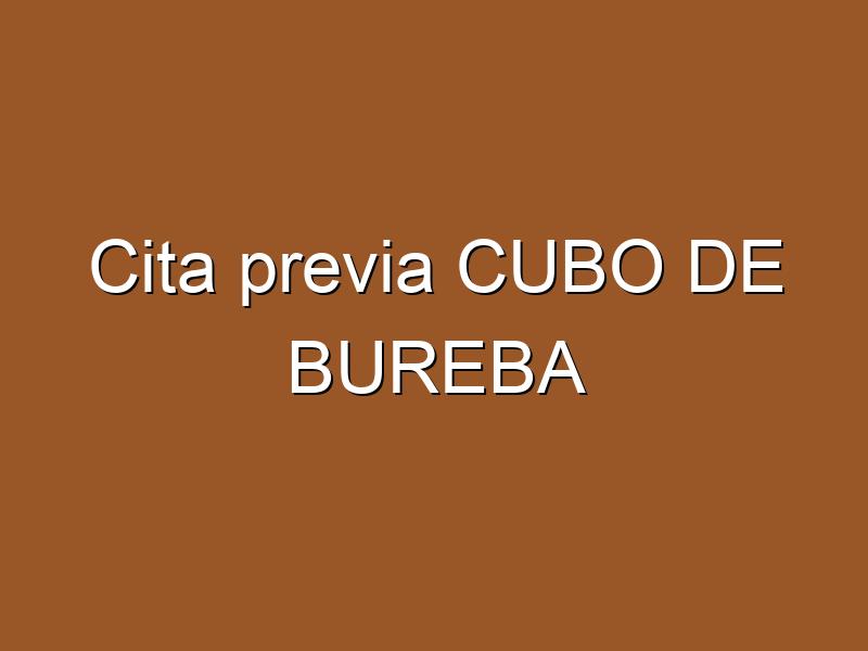 Cita previa CUBO DE BUREBA