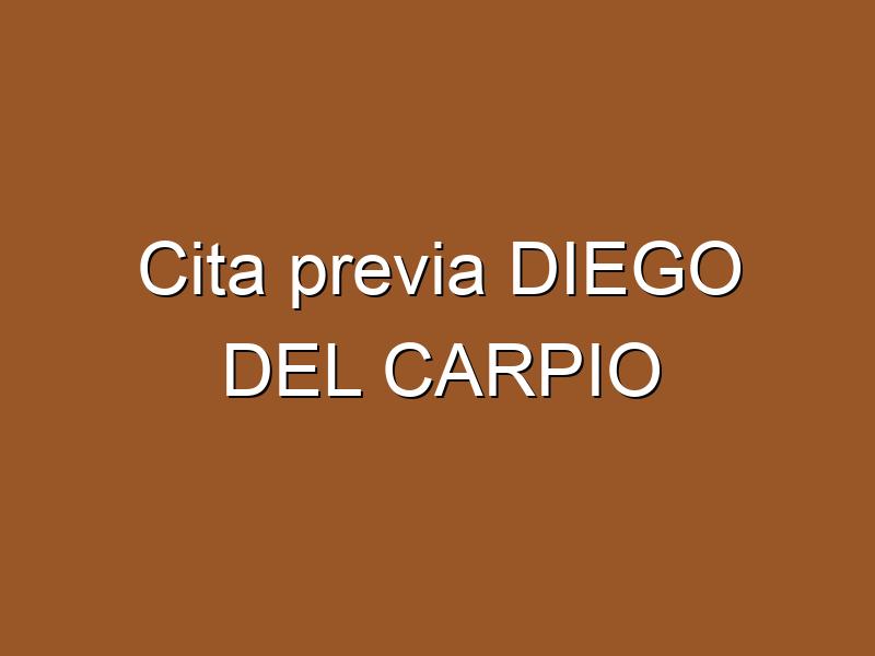 Cita previa DIEGO DEL CARPIO