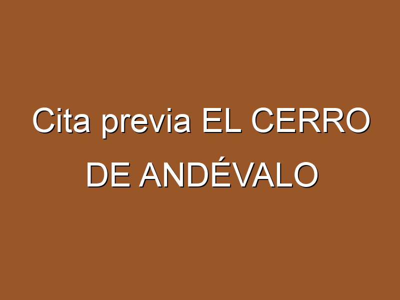 Cita previa EL CERRO DE ANDÉVALO