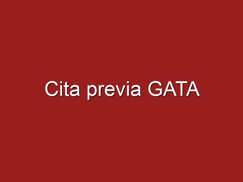 Cita previa GATA