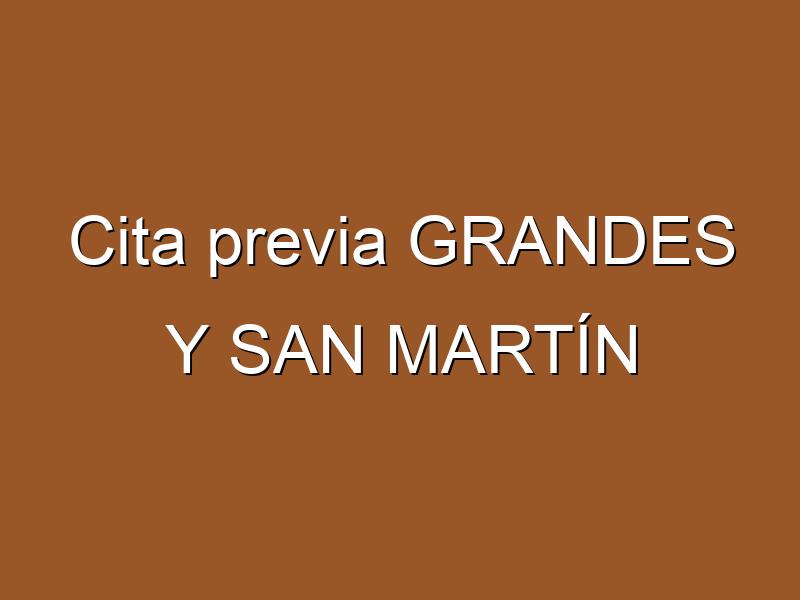 Cita previa GRANDES Y SAN MARTÍN