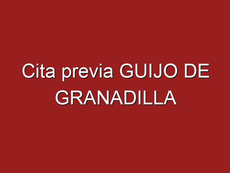 Cita previa GUIJO DE GRANADILLA