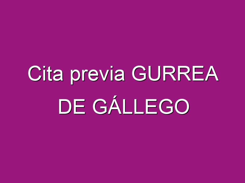 Cita previa GURREA DE GÁLLEGO