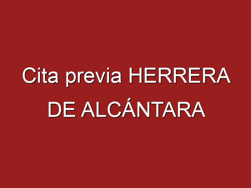 Cita previa HERRERA DE ALCÁNTARA