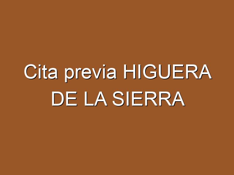 Cita previa HIGUERA DE LA SIERRA