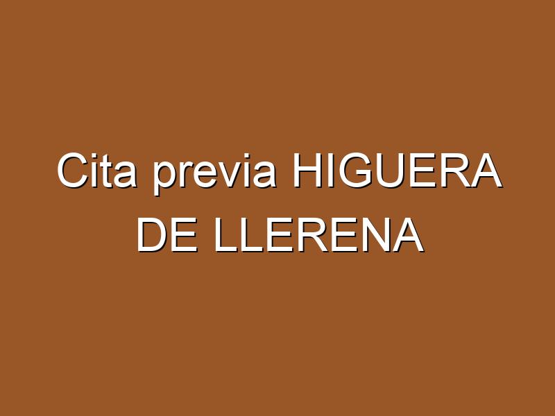 Cita previa HIGUERA DE LLERENA