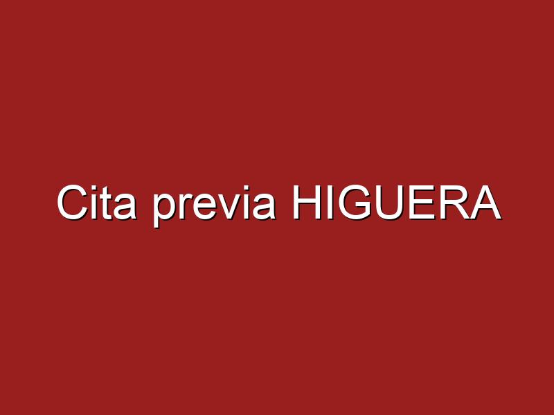 Cita previa HIGUERA