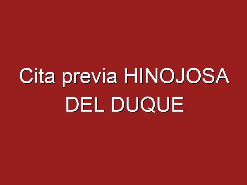 Cita previa HINOJOSA DEL DUQUE