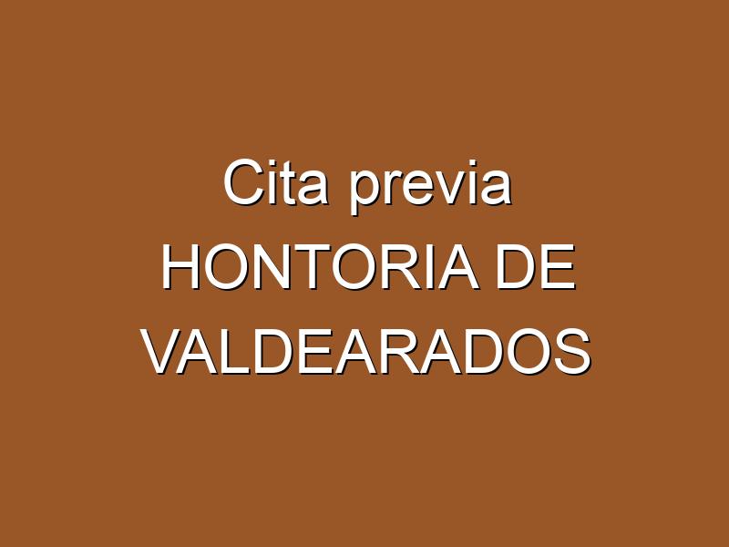 Cita previa HONTORIA DE VALDEARADOS