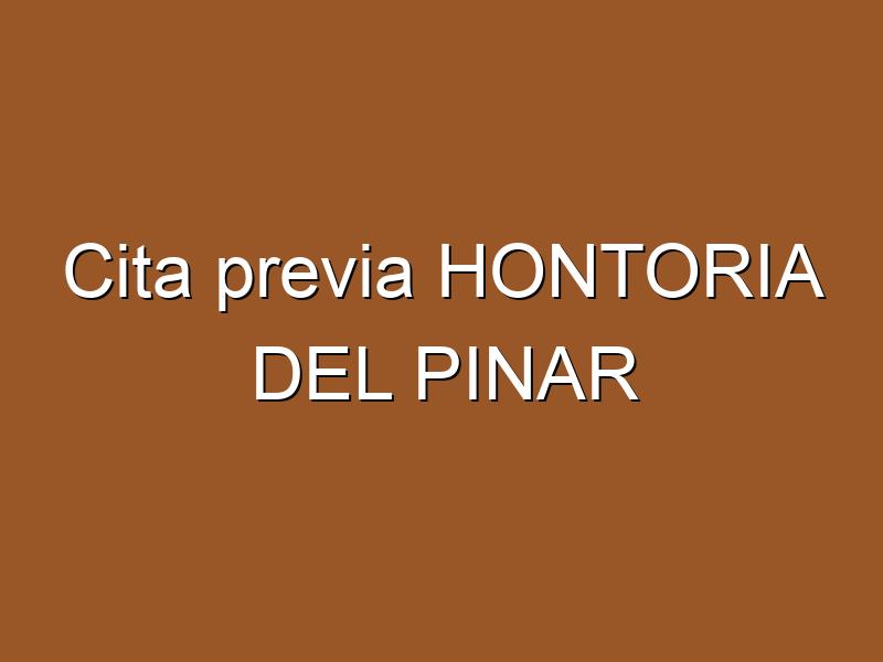 Cita previa HONTORIA DEL PINAR
