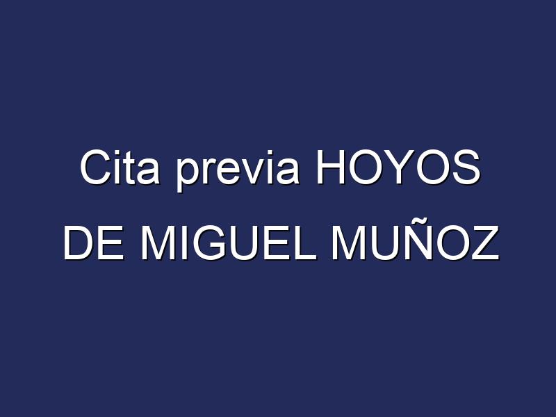 Cita previa HOYOS DE MIGUEL MUÑOZ