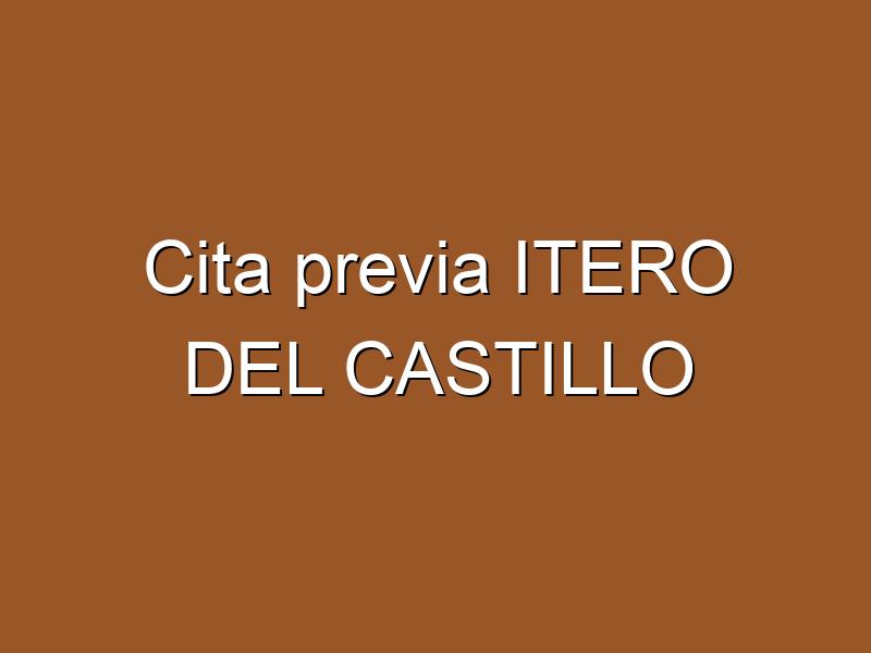 Cita previa ITERO DEL CASTILLO
