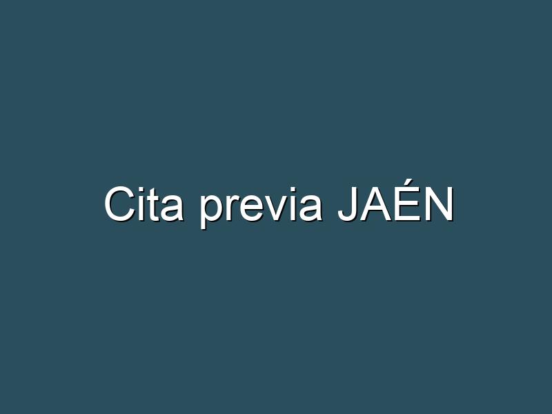 Cita previa JAÉN