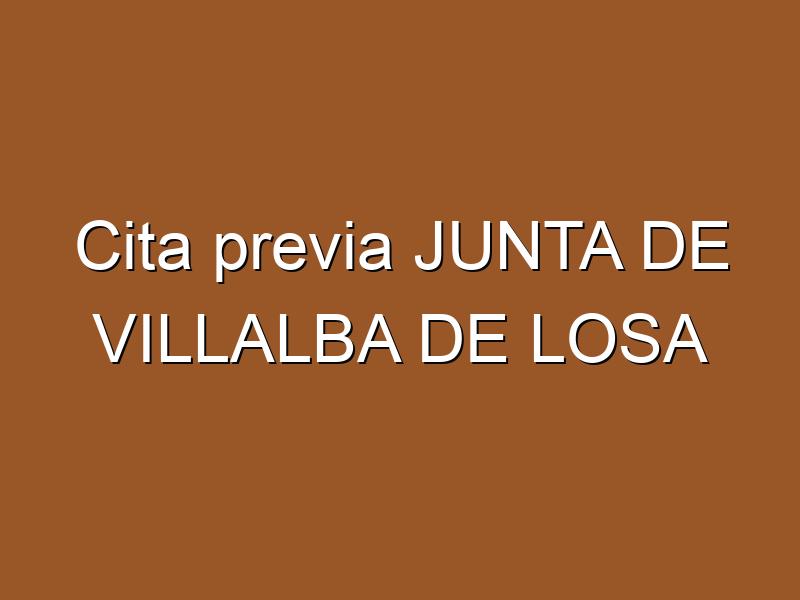 Cita previa JUNTA DE VILLALBA DE LOSA