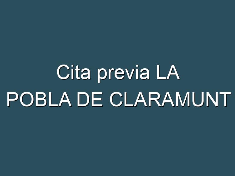 Cita previa LA POBLA DE CLARAMUNT
