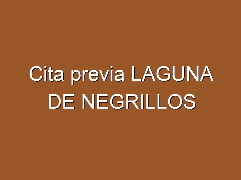 Cita previa LAGUNA DE NEGRILLOS