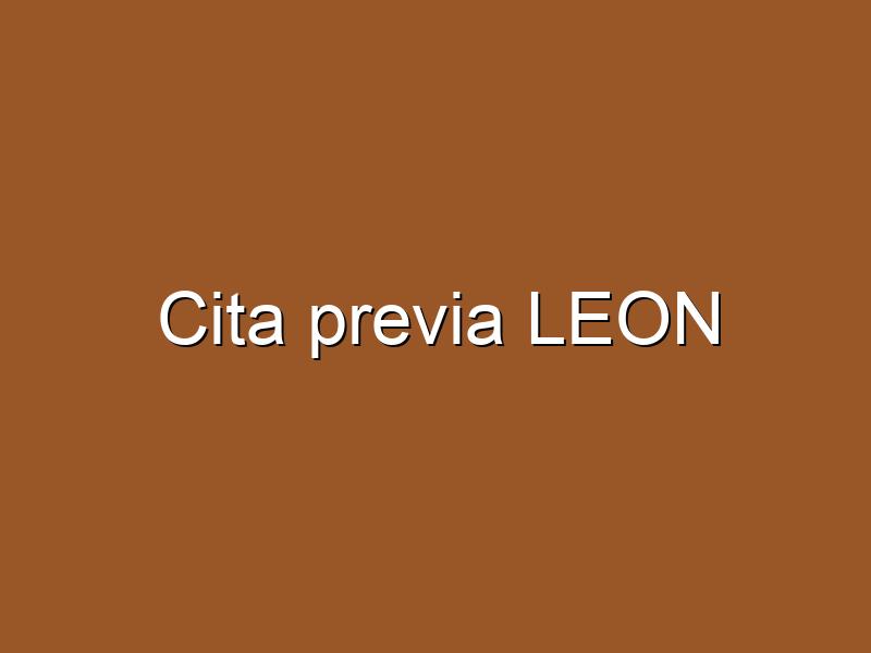 Cita previa LEON
