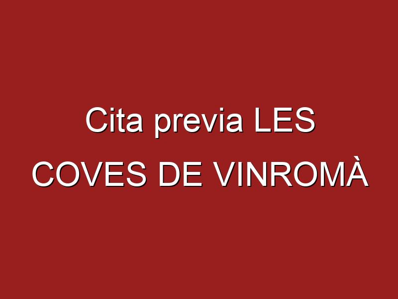 Cita previa LES COVES DE VINROMÀ