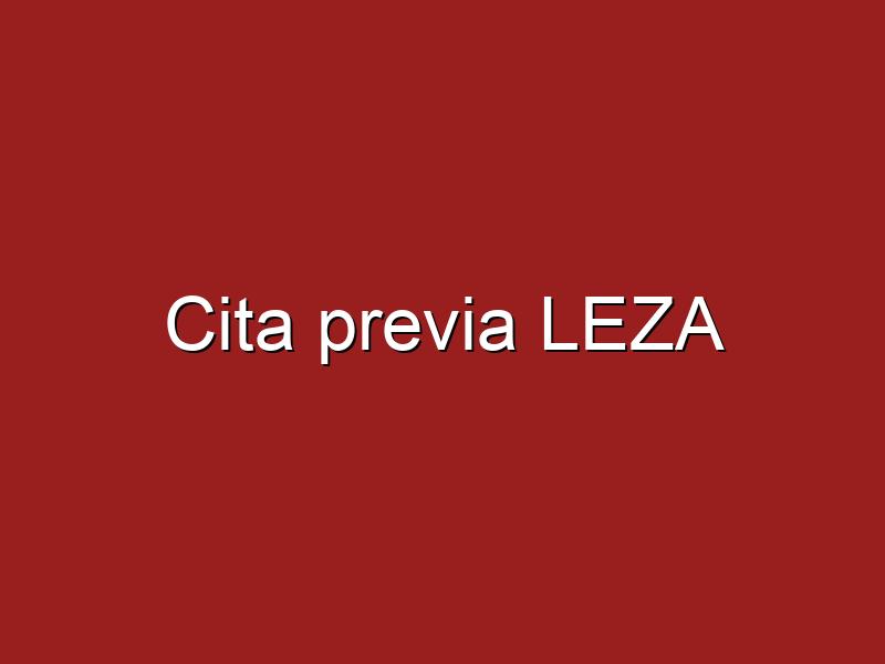 Cita previa LEZA