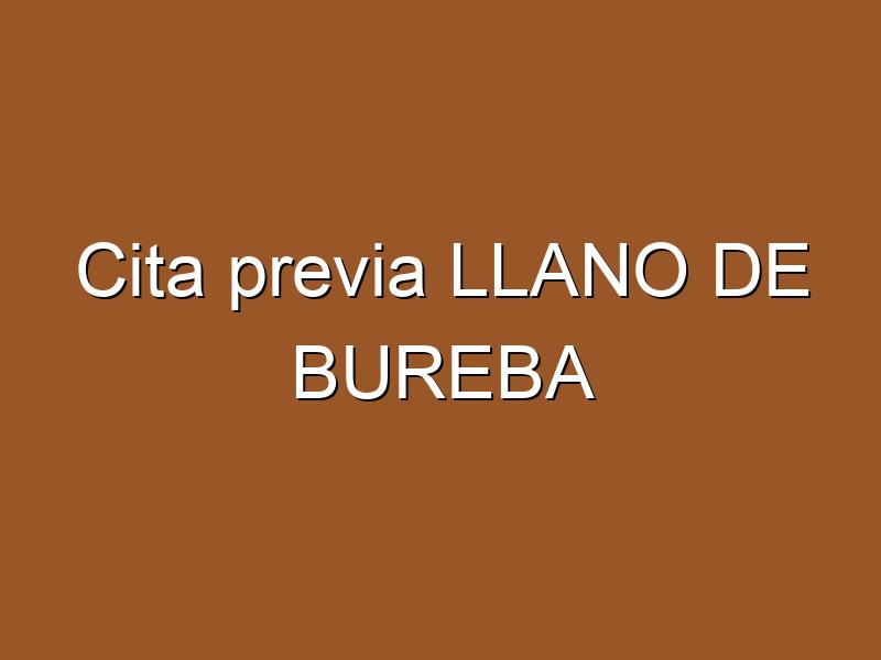 Cita previa LLANO DE BUREBA