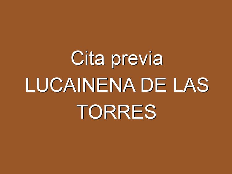Cita previa LUCAINENA DE LAS TORRES