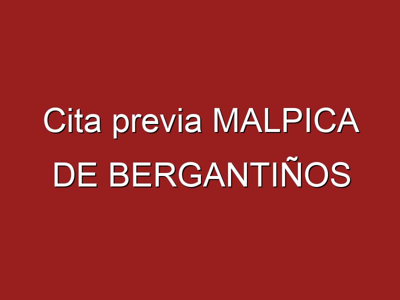 Cita previa MALPICA DE BERGANTIÑOS