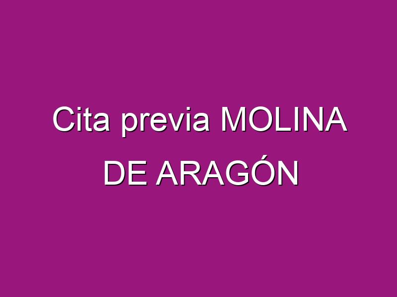 Cita previa MOLINA DE ARAGÓN