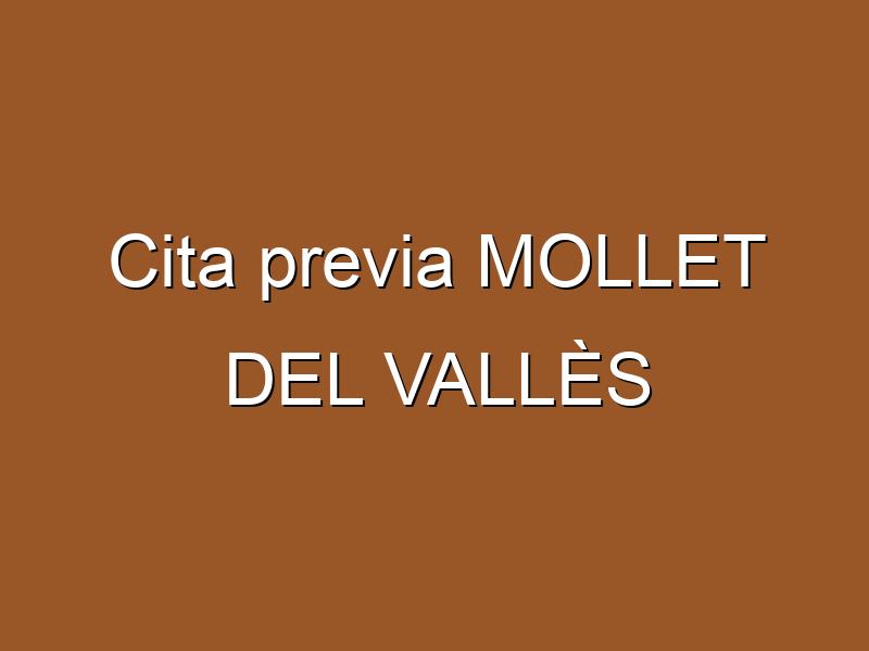 Cita previa MOLLET DEL VALLÈS