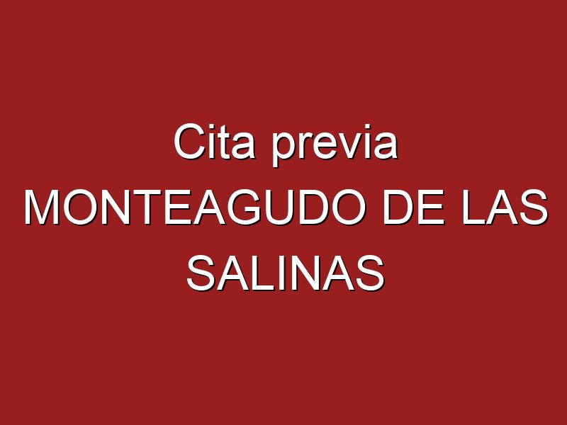 Cita previa MONTEAGUDO DE LAS SALINAS