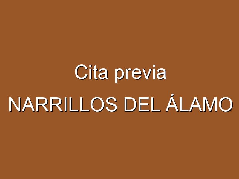 Cita previa NARRILLOS DEL ÁLAMO