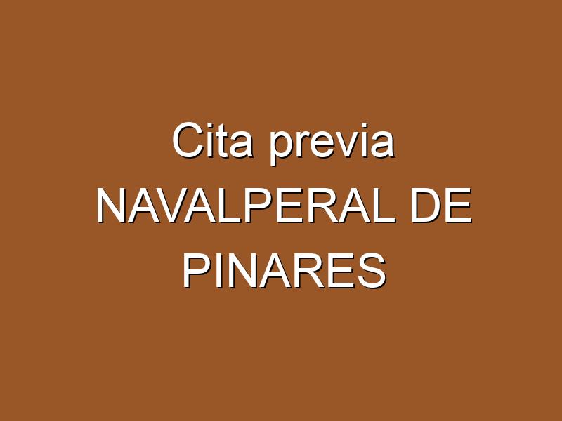 Cita previa NAVALPERAL DE PINARES