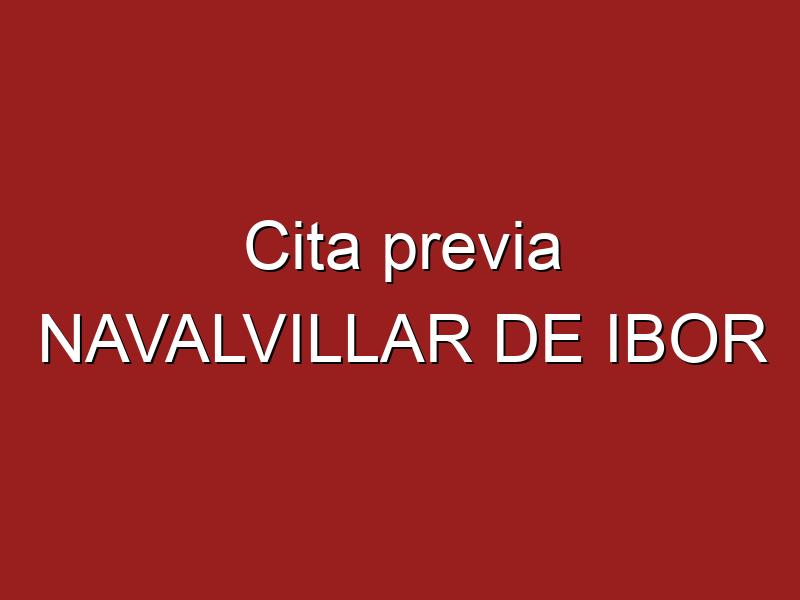 Cita previa NAVALVILLAR DE IBOR