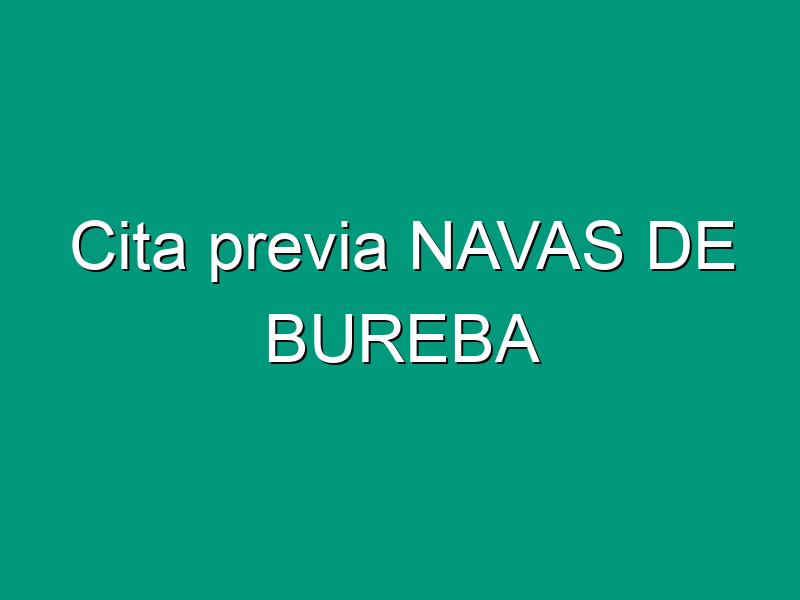 Cita previa NAVAS DE BUREBA