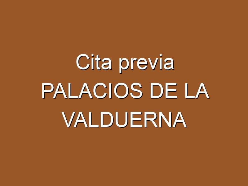 Cita previa PALACIOS DE LA VALDUERNA