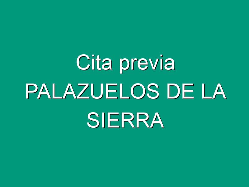 Cita previa PALAZUELOS DE LA SIERRA