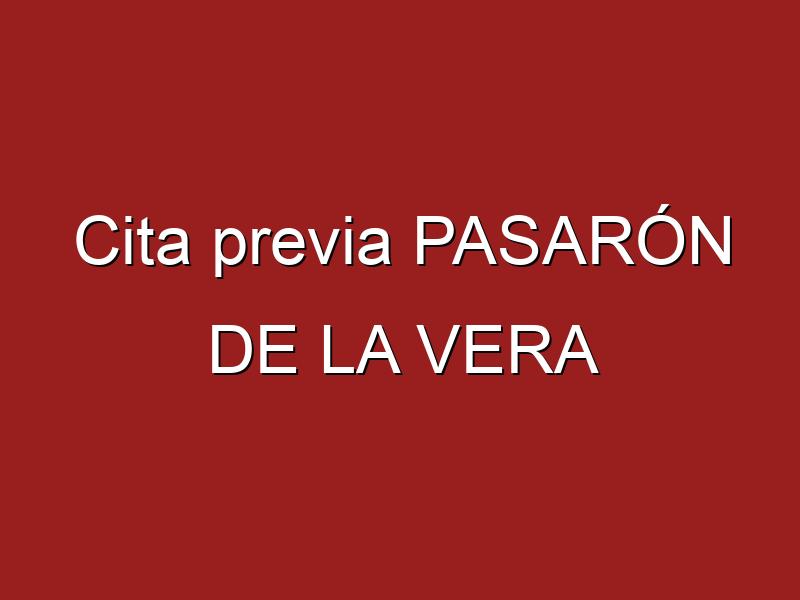 Cita previa PASARÓN DE LA VERA