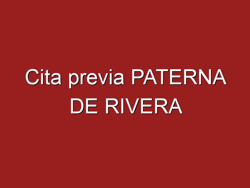 Cita previa PATERNA DE RIVERA