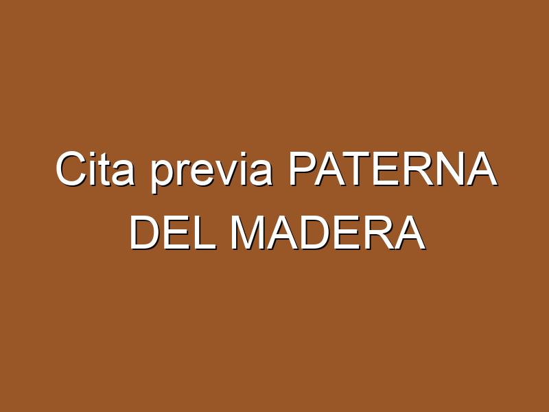 Cita previa PATERNA DEL MADERA