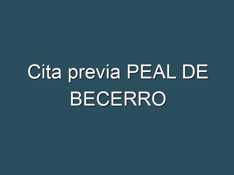 Cita previa PEAL DE BECERRO