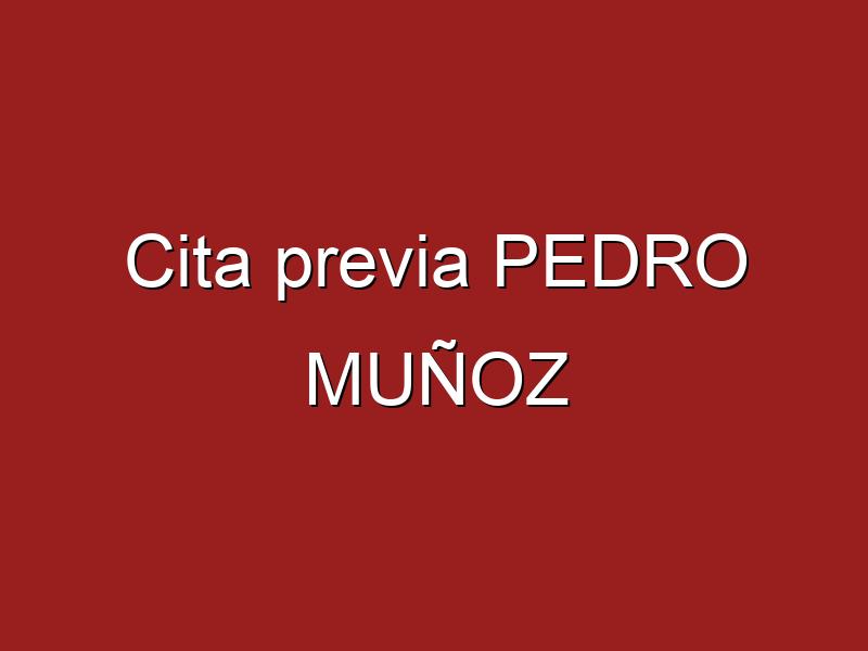 Cita previa PEDRO MUÑOZ