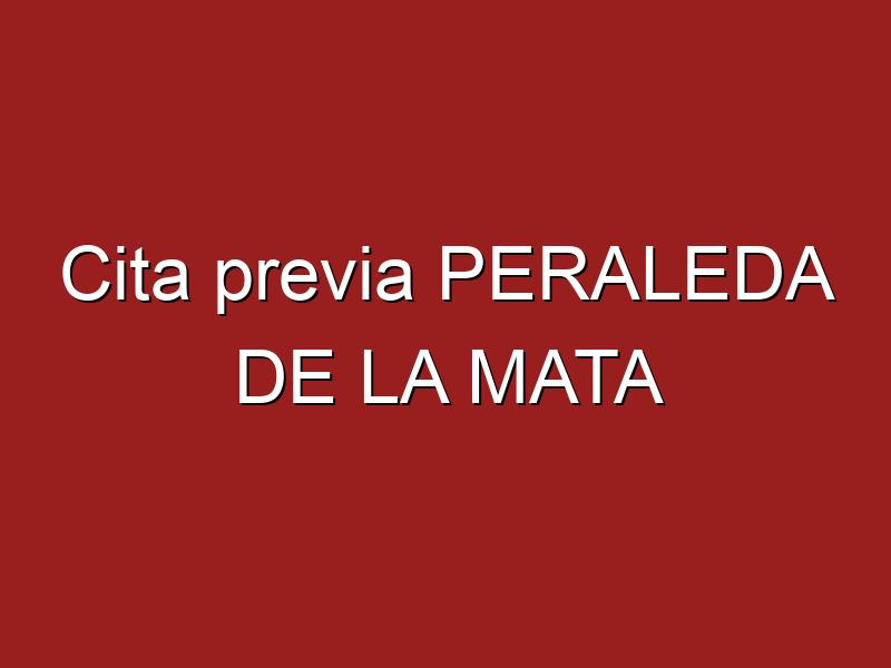 Cita previa PERALEDA DE LA MATA