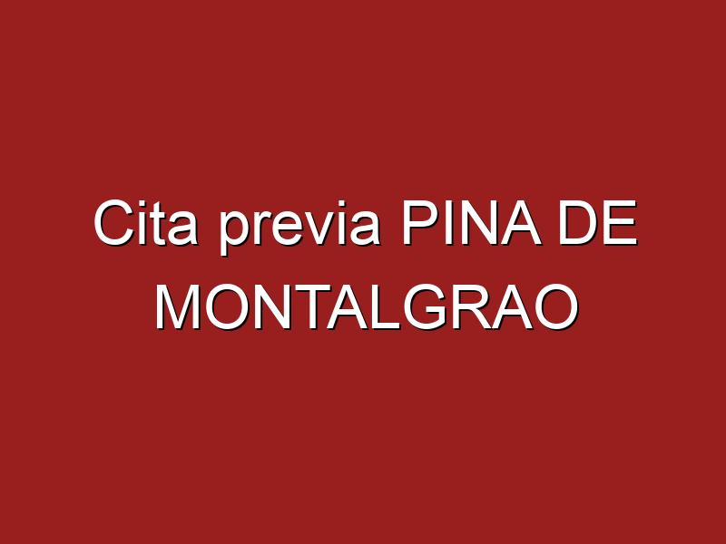 Cita previa PINA DE MONTALGRAO
