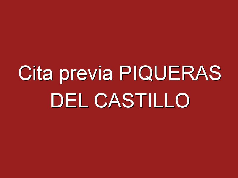 Cita previa PIQUERAS DEL CASTILLO