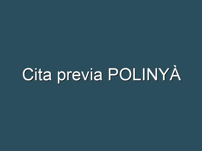 Cita previa POLINYÀ